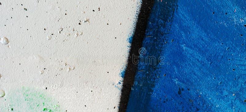 在墙壁上的五颜六色的街道画绘画,街道艺术横幅背景 库存图片