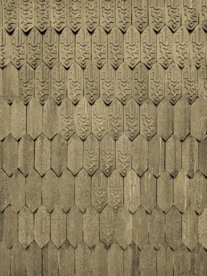 在墙壁上的伊斯兰教的瓦片织法样式作为背景 图库摄影
