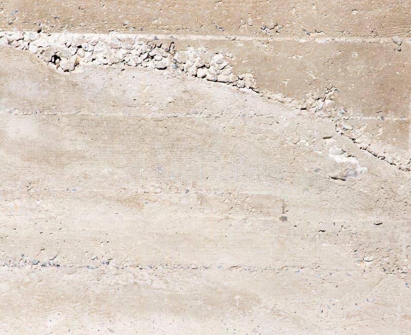 在墙壁上的新鲜的混凝土作为背景 免版税库存图片
