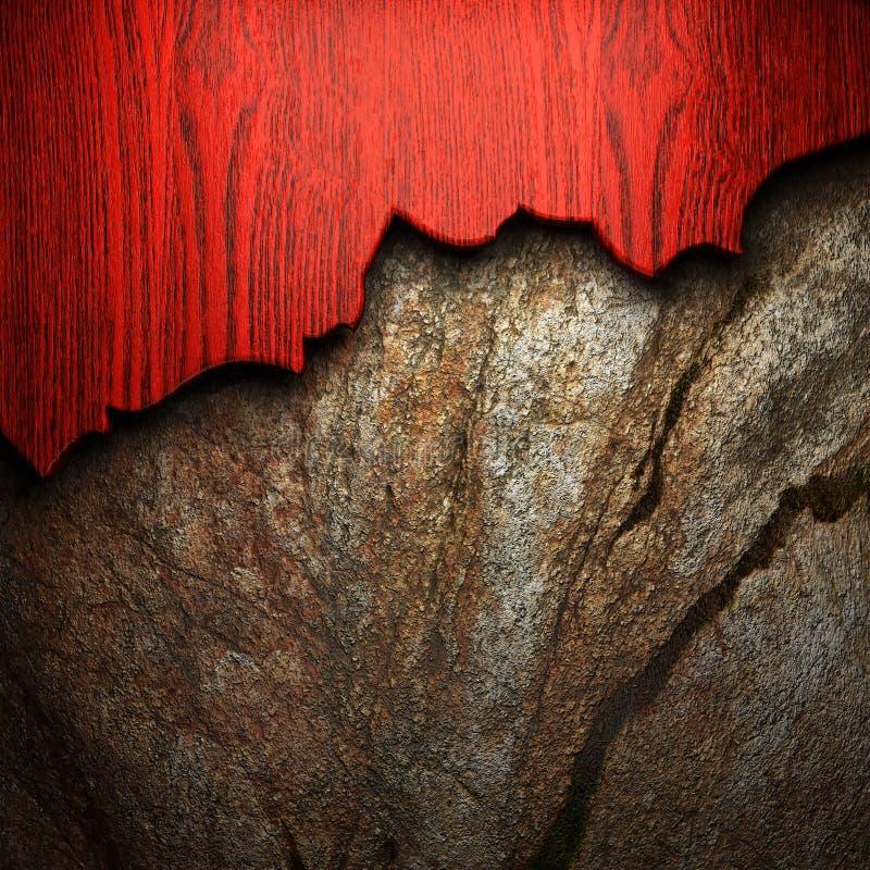 在墙壁上的木头 库存例证