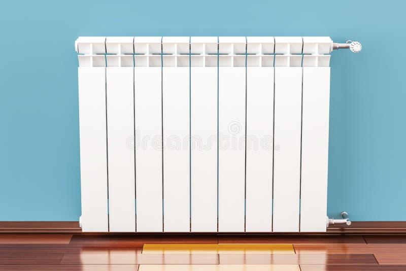 在墙壁上的热化幅射器, 3D 库存例证