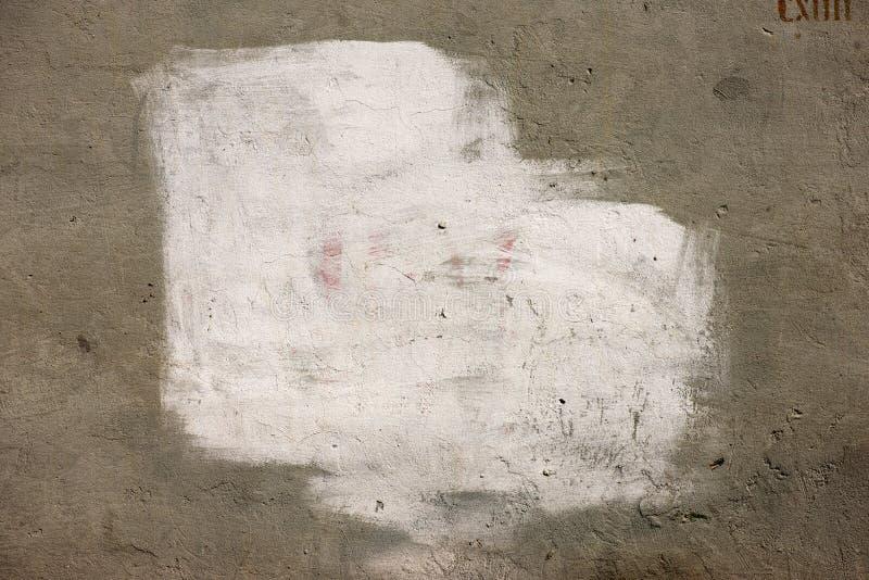 在墙壁上的白色油漆 图库摄影