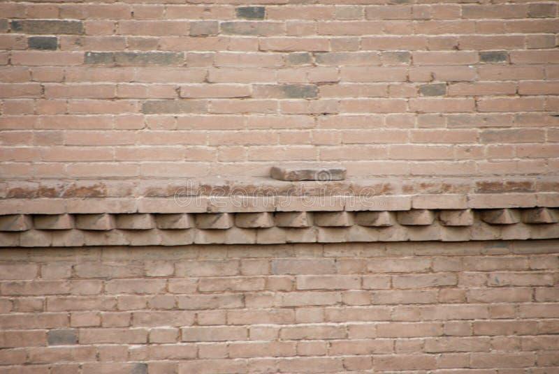 在墙壁上的砖继承干净,诚实和美好的事 库存照片
