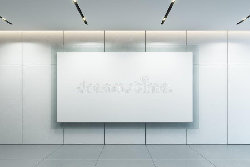在墙壁上的空白的相框 向量例证