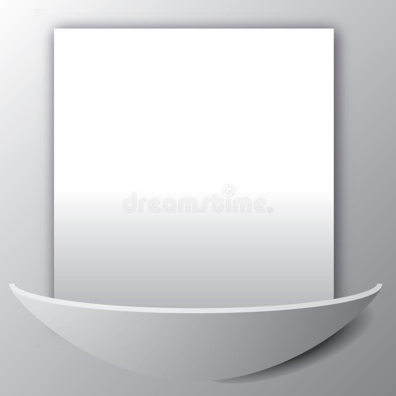 在墙壁上的空白页 免版税库存照片
