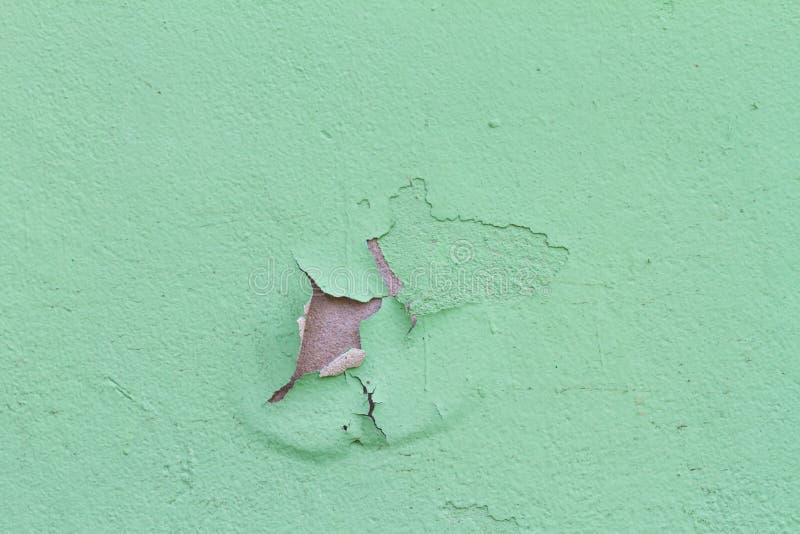 在墙壁上的老剥落的颜色 库存图片