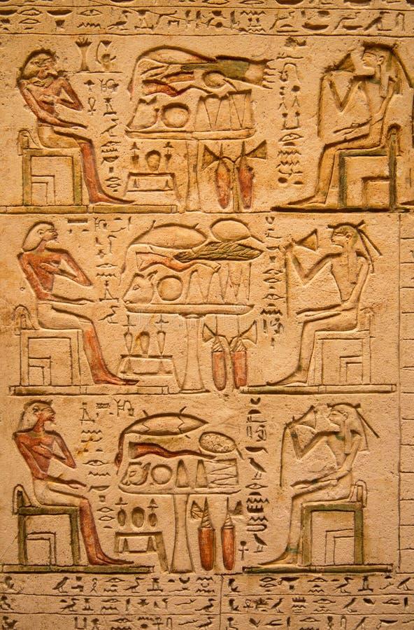 在墙壁上的象形文字 免版税库存照片