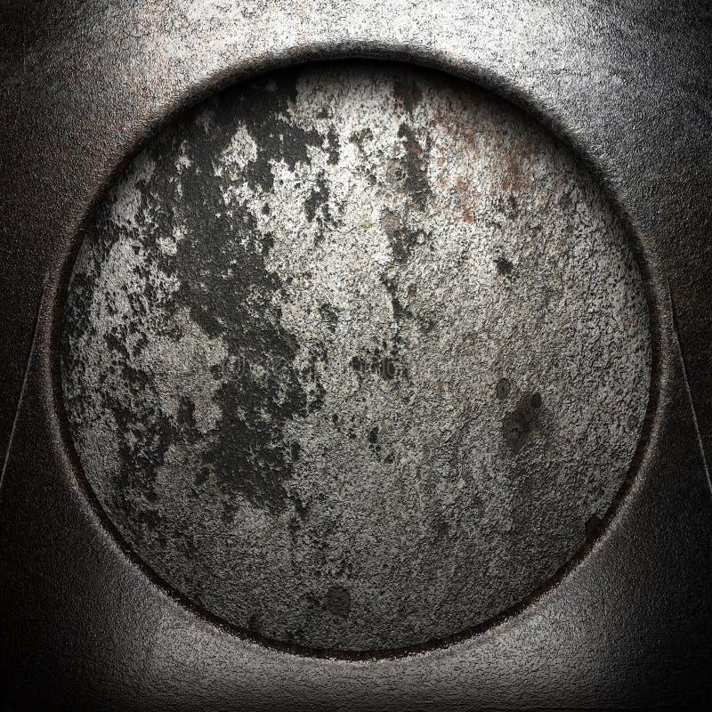 在墙壁上的金属 向量例证