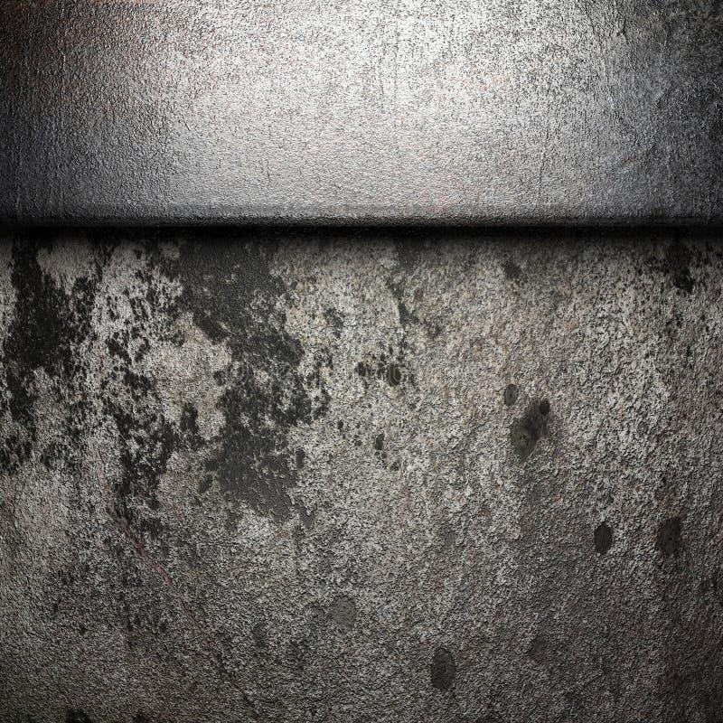 在墙壁上的金属 皇族释放例证