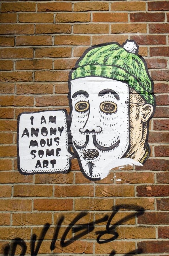 在墙壁上的附庸风雅街道画在哈肯伊,伦敦 免版税库存图片