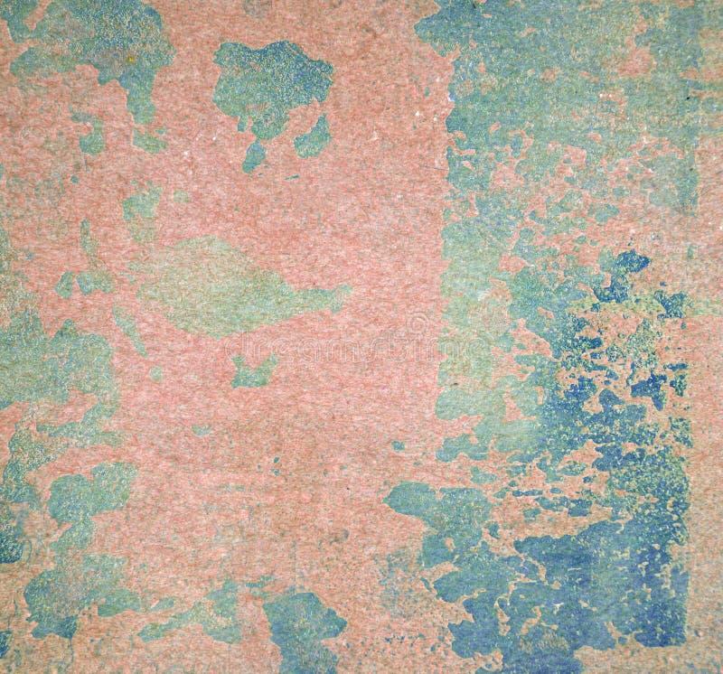 在墙壁无缝的纹理的削皮油漆 土气蓝色难看的东西材料的样式 图库摄影