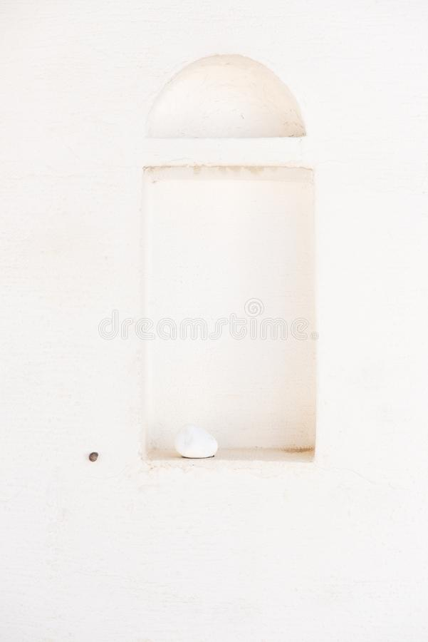 在墙壁的凹进处 免版税库存照片