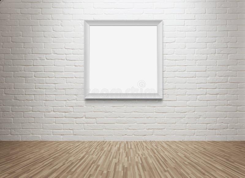在墙壁的空白的画框 免版税库存图片