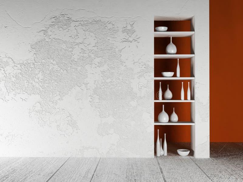 在墙壁的适当位置不同的事的 库存例证