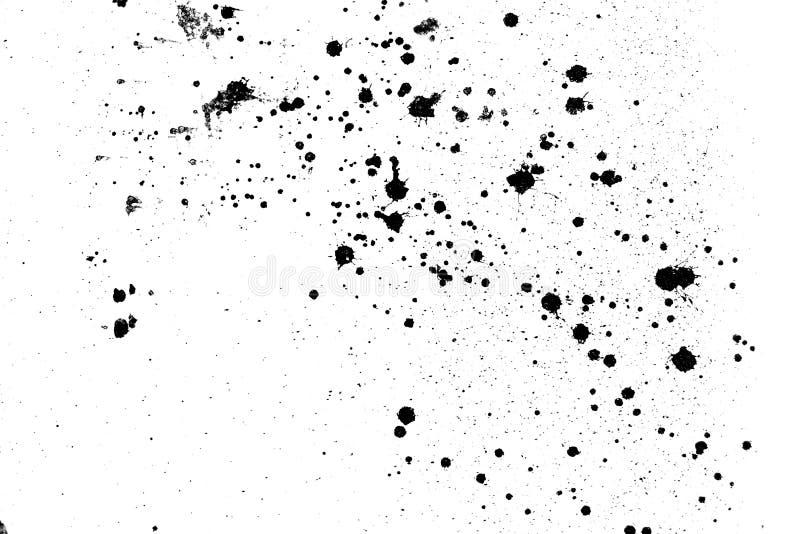 在墙壁背景的黑白抽象泼溅物颜色 被构造的油漆下降墨水飞溅难看的东西设计 免版税库存图片