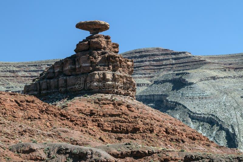 在墨西哥帽,犹他的岩层 图库摄影