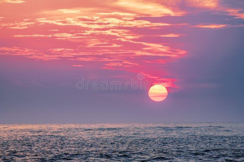在墨西哥湾的日落, Clearwater,佛罗里达美国 库存图片