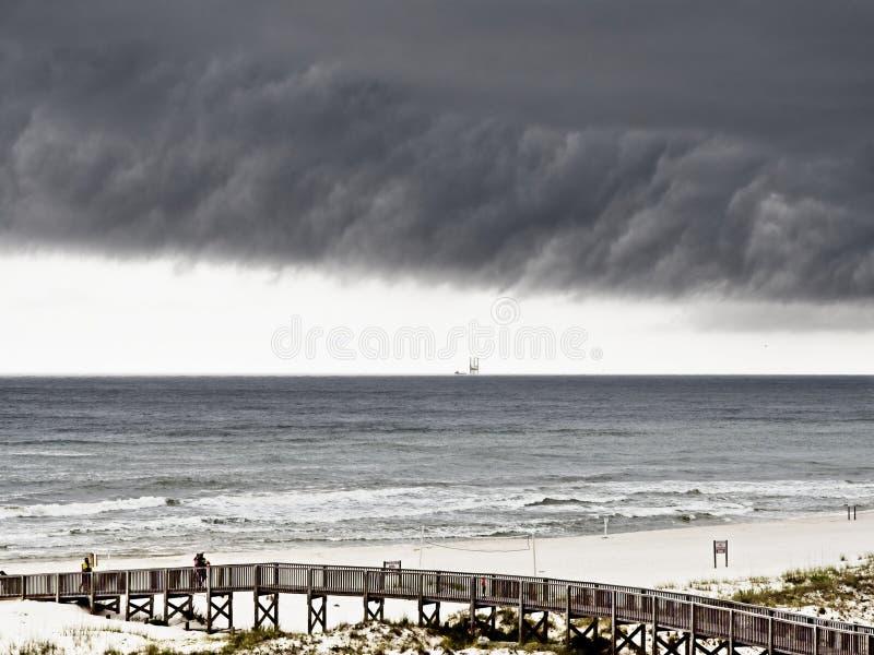 在墨西哥湾2的风雨如磐的天空 免版税图库摄影