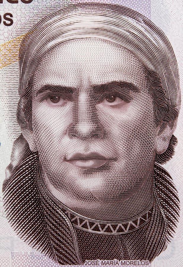 在墨西哥50比索2015年ba的何塞玛丽亚莫雷洛斯州y帕冯画象 免版税库存图片