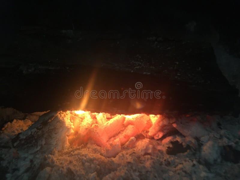 在壁炉的温暖 库存图片