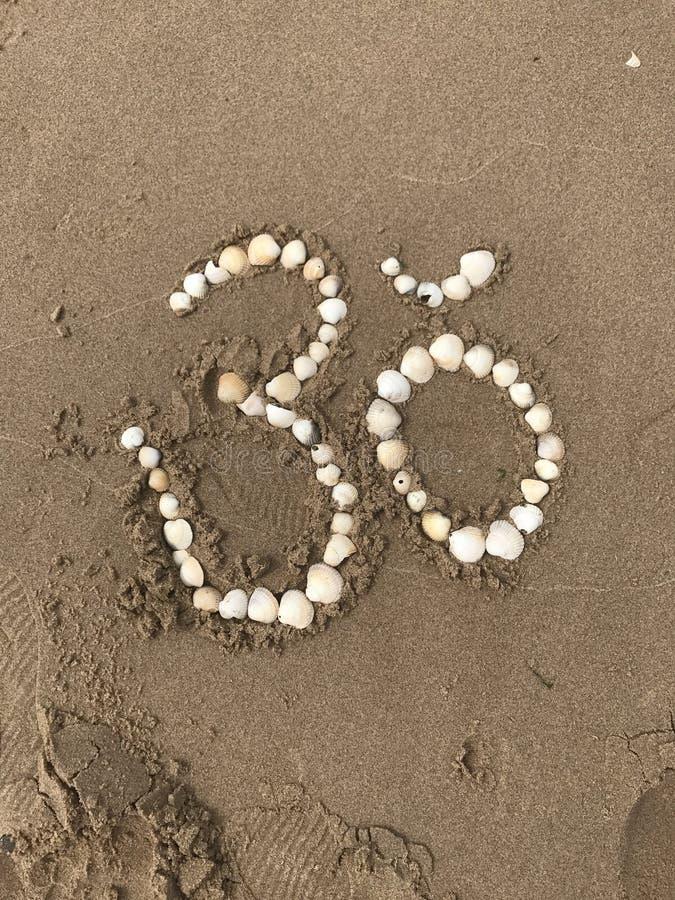 在壳的瑜伽om 图库摄影