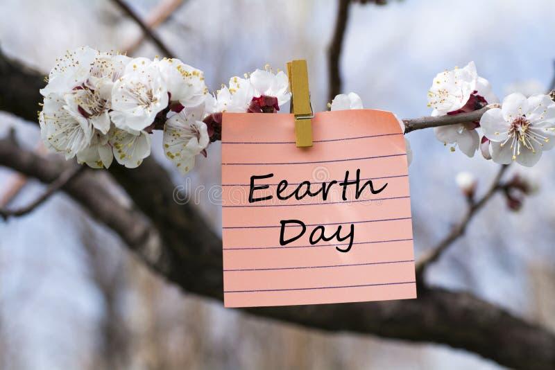 在备忘录的地球日 免版税库存图片