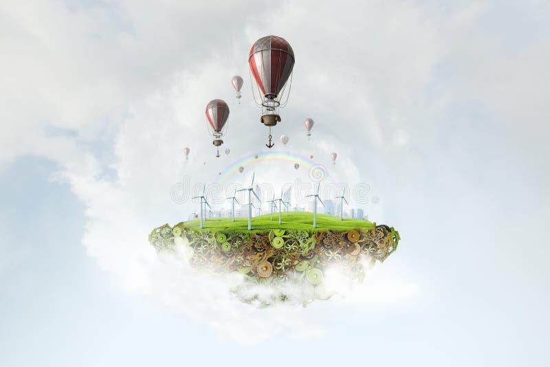 在夏天天空的气球 库存图片