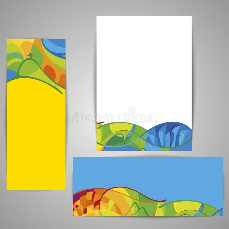 在夏天样式的小册子设计 假日,假期海报 向量例证