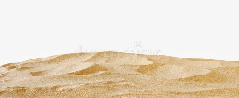 在夏天海背景前面的空的沙子海滩 免版税库存照片