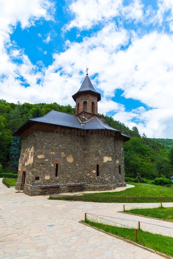在夏天环境美化在喀尔巴阡山脉,罗马尼亚 库存图片