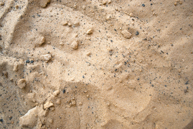 在夏天晴朗的海滩概念的沙子 免版税库存照片
