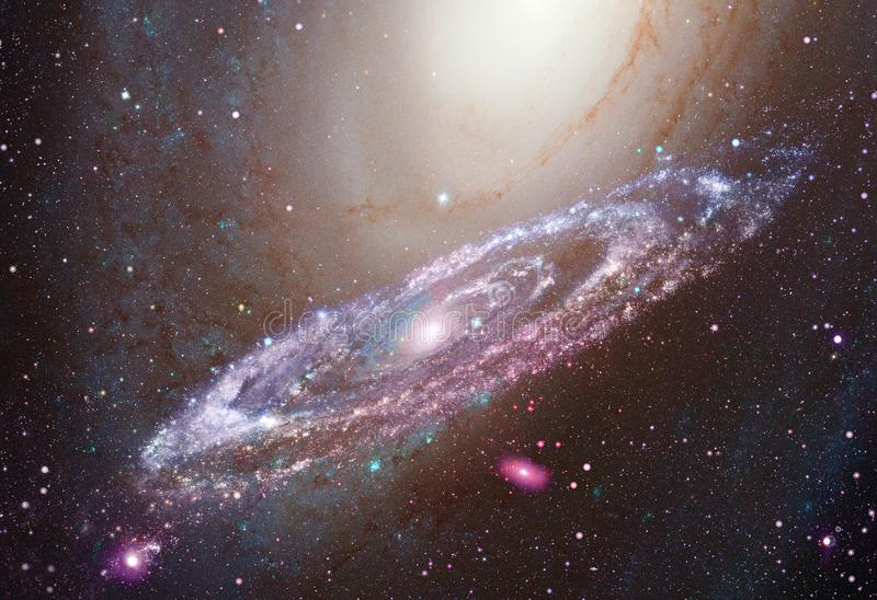 在外层空间的光亮的旋涡星云 向量例证