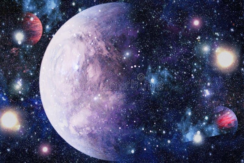 在外层空间的星际远离地球的许多光年 美国航空航天局装备的这个图象的元素 免版税图库摄影