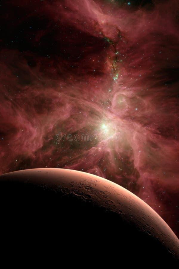 在外层空间的火星 免版税库存照片