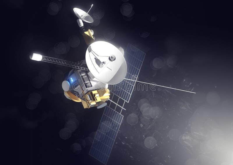 在外层空间的空间探索 向量例证