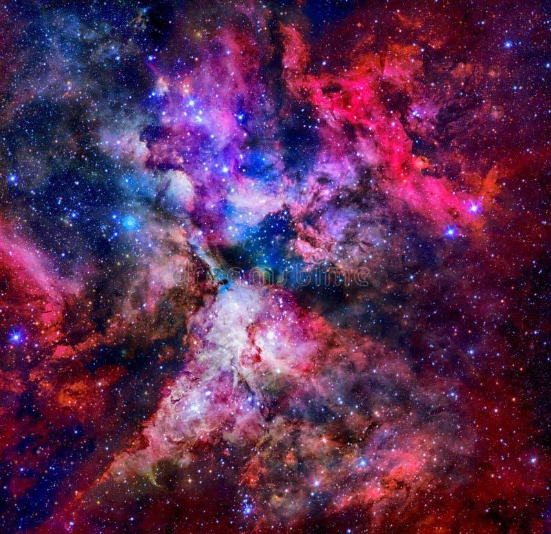 在外层空间的紫色星云 美国航空航天局装备的这个图象的元素 库存照片