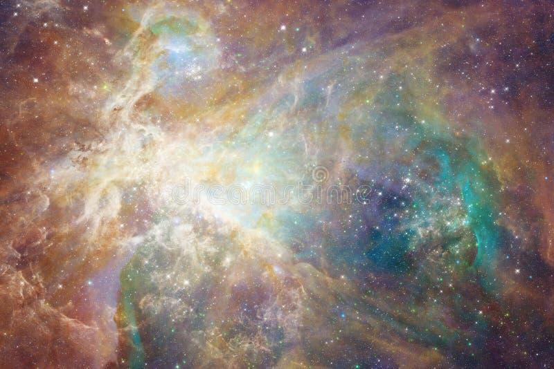 在外层空间,宇宙秀丽的星系  美国航空航天局装备的这个图象的元素 免版税库存图片