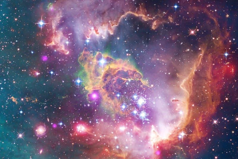 在外层空间,宇宙秀丽的星系  免版税图库摄影