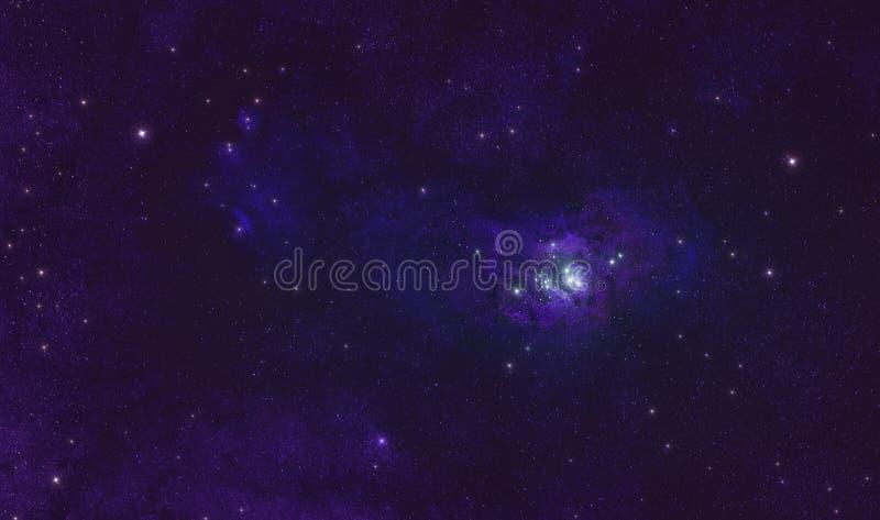 在外层空间天空的盐水湖星云 免版税库存图片