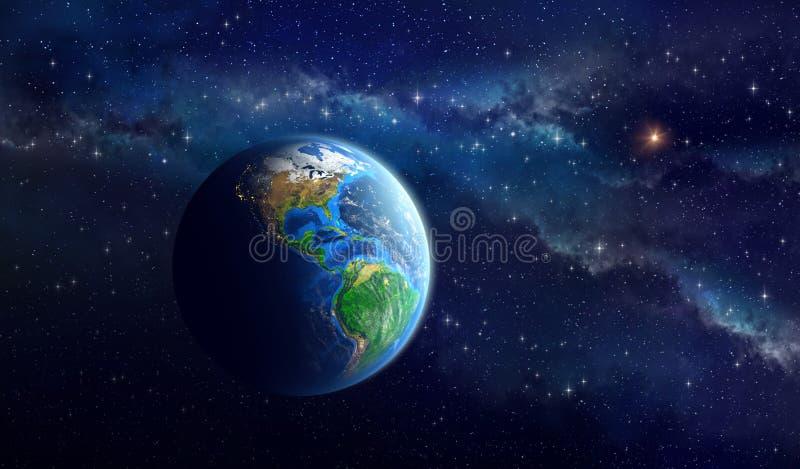 在外层空间的行星地球 库存例证