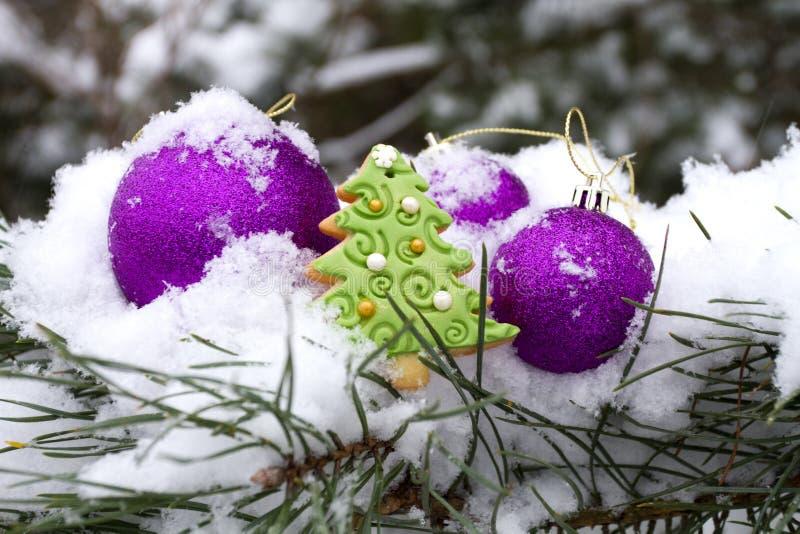 在外部的冬天装饰 免版税库存照片