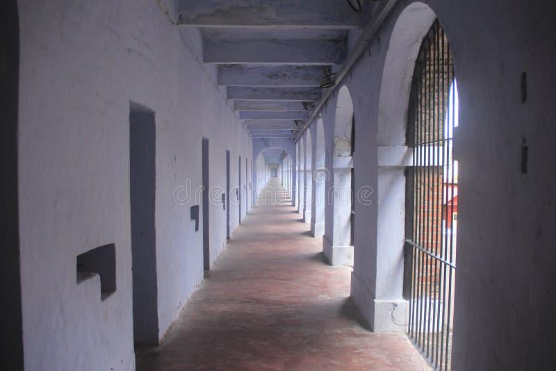 在多孔的监狱1的边 免版税库存照片