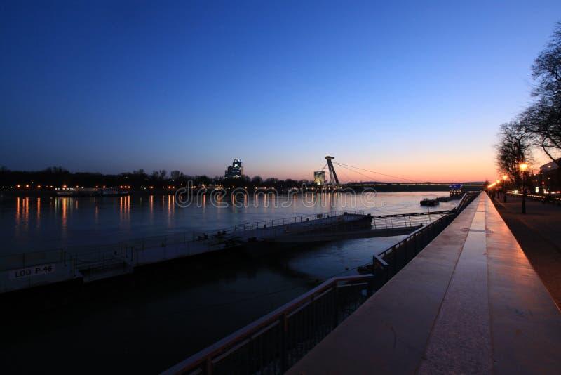 在多瑙河的看法 图库摄影