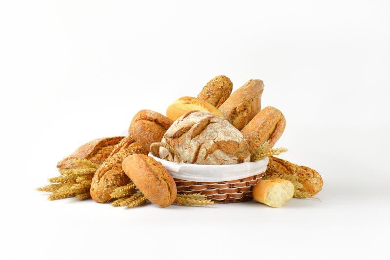 在多种上添面包 库存图片