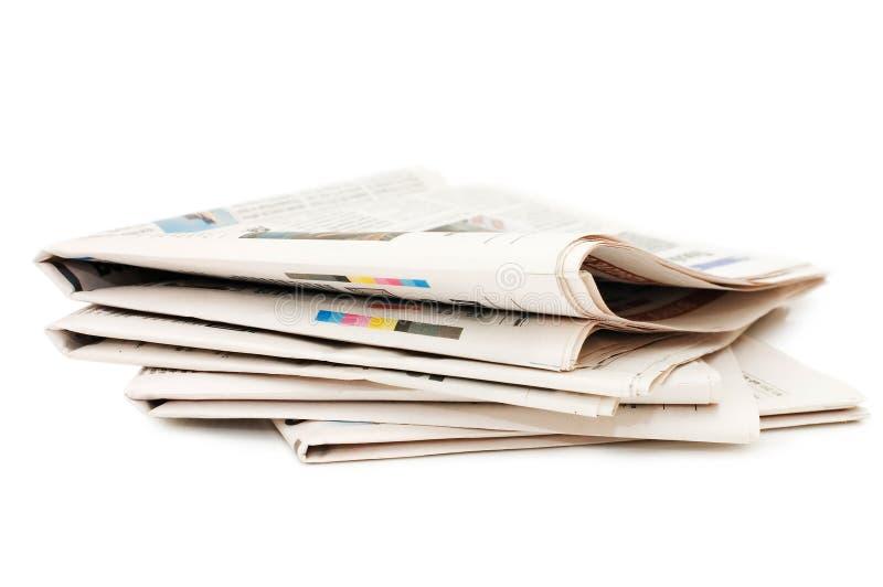 在多种白色的背景报纸 免版税库存照片