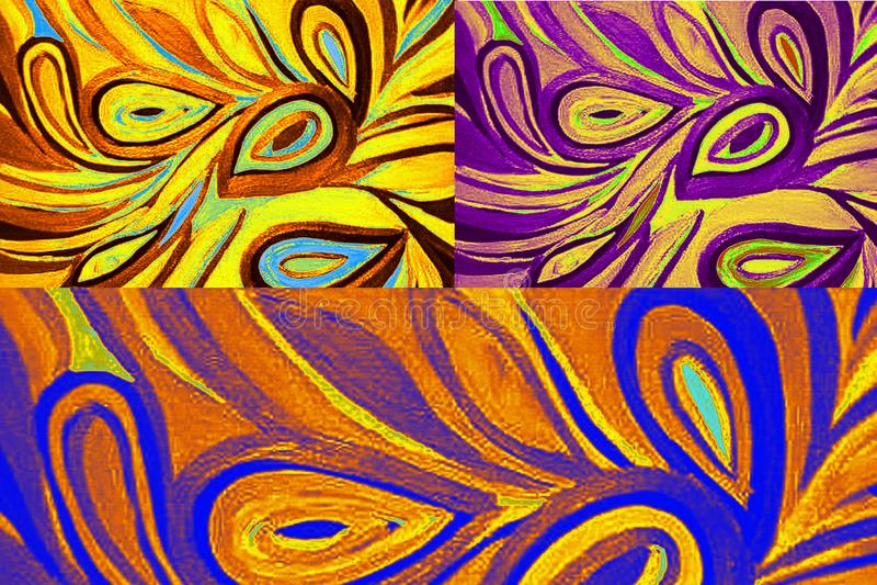 在多种颜色的现代漩涡背景样式 向量例证