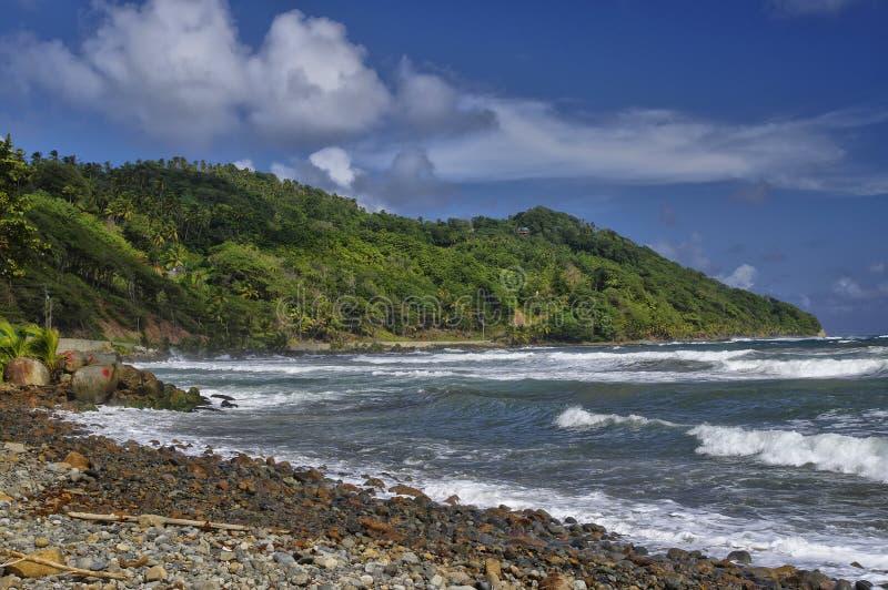 在多米尼加的Pagua海湾 库存图片