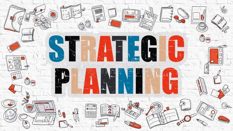 在多色的战略计划 乱画设计 向量例证