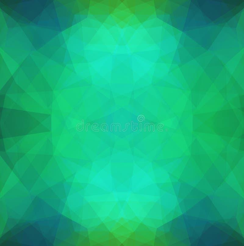 在多角形样式的抽象样式 库存例证
