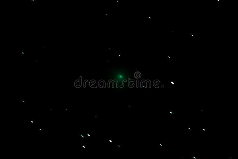 在夜空的彗星46P/Wirtanen 库存照片
